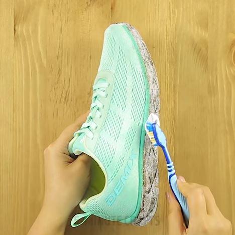 baskets astuces utilisations dentifrice