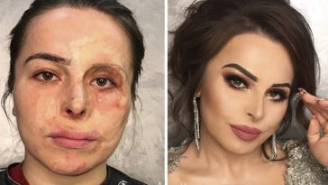 peau femmes maquillage avant après transformation