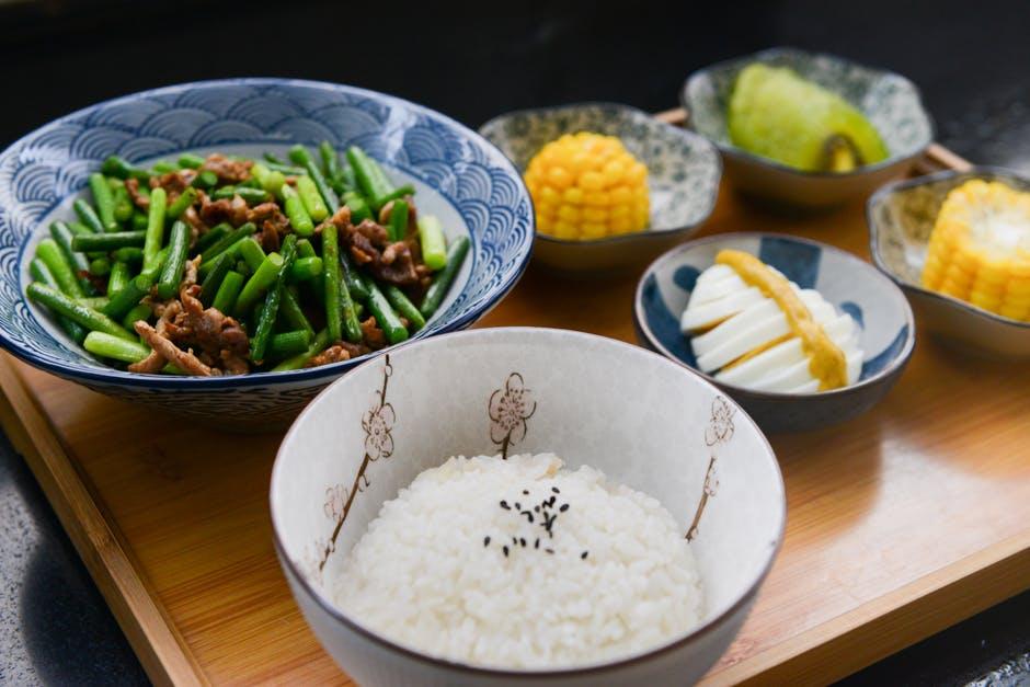 régime riz plats