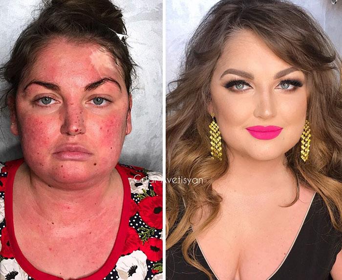 transformation peau grâce au pouvoir du maquillage