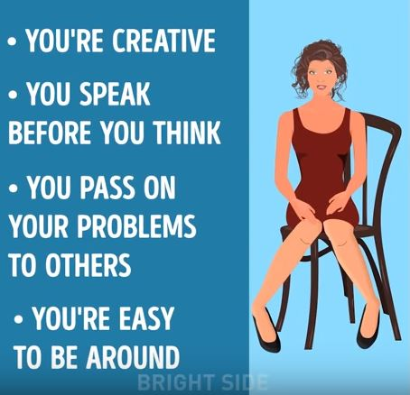 façon de s'asseoir