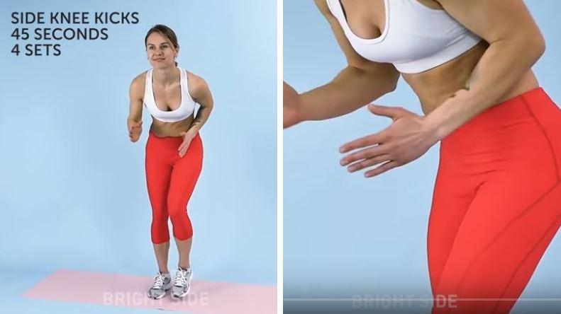 exercice sport mincir montées de genoux