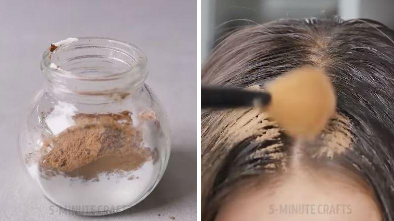 astuces coiffure poudre talc