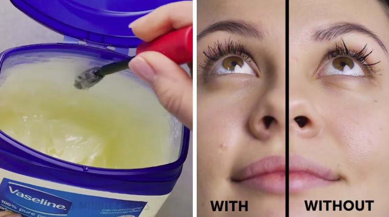astuces maquillage vaseline