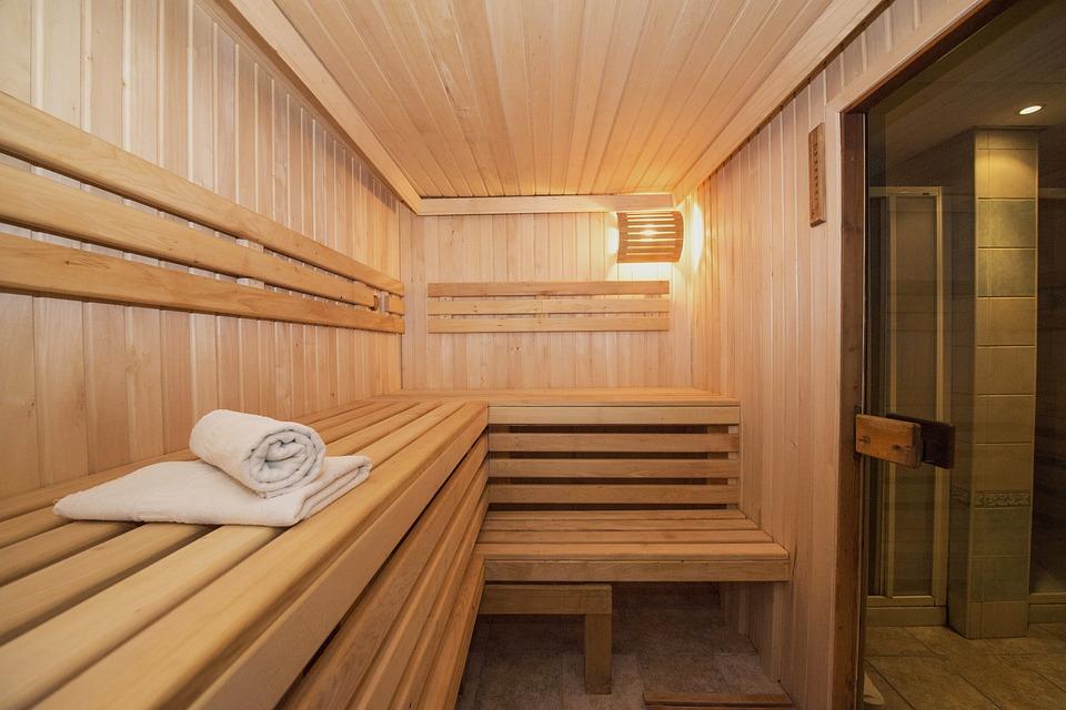 cabine de sauna en bois
