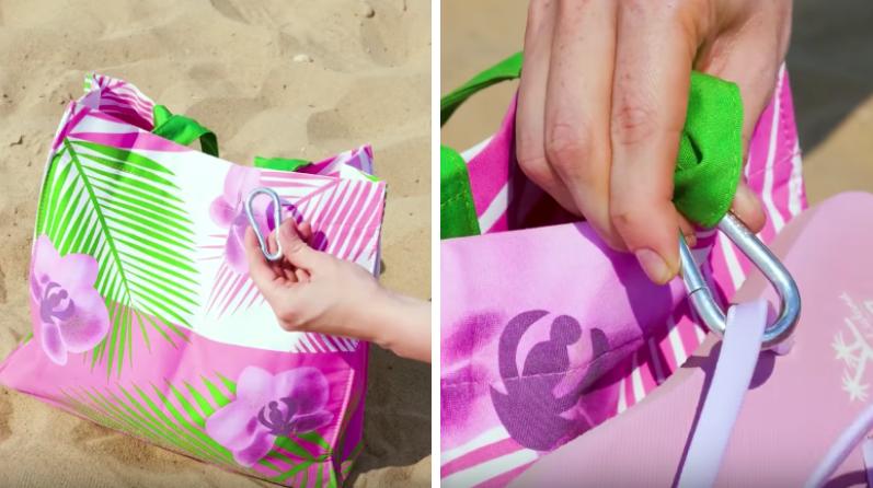 sac de plage astuce