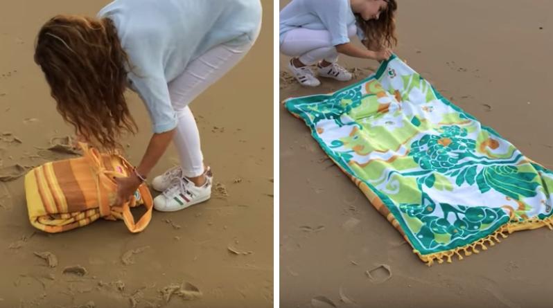 été radieux serviette de plage