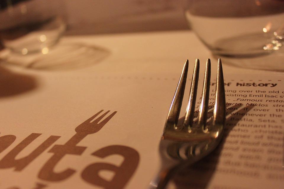 menu de restaurant à la carte