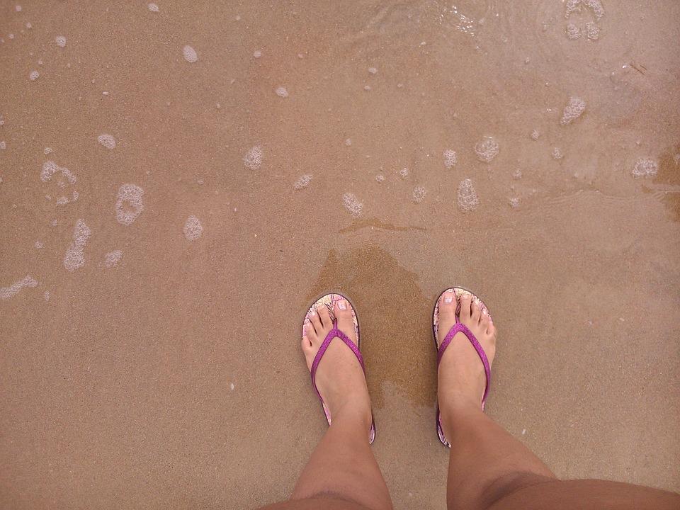 tongs astuces plage été