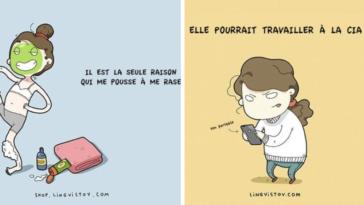 vision amour hommes femmes dessins illustrations humour différences