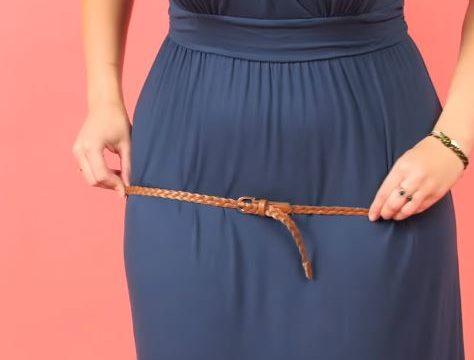 marquer sa taille avec une ceinture