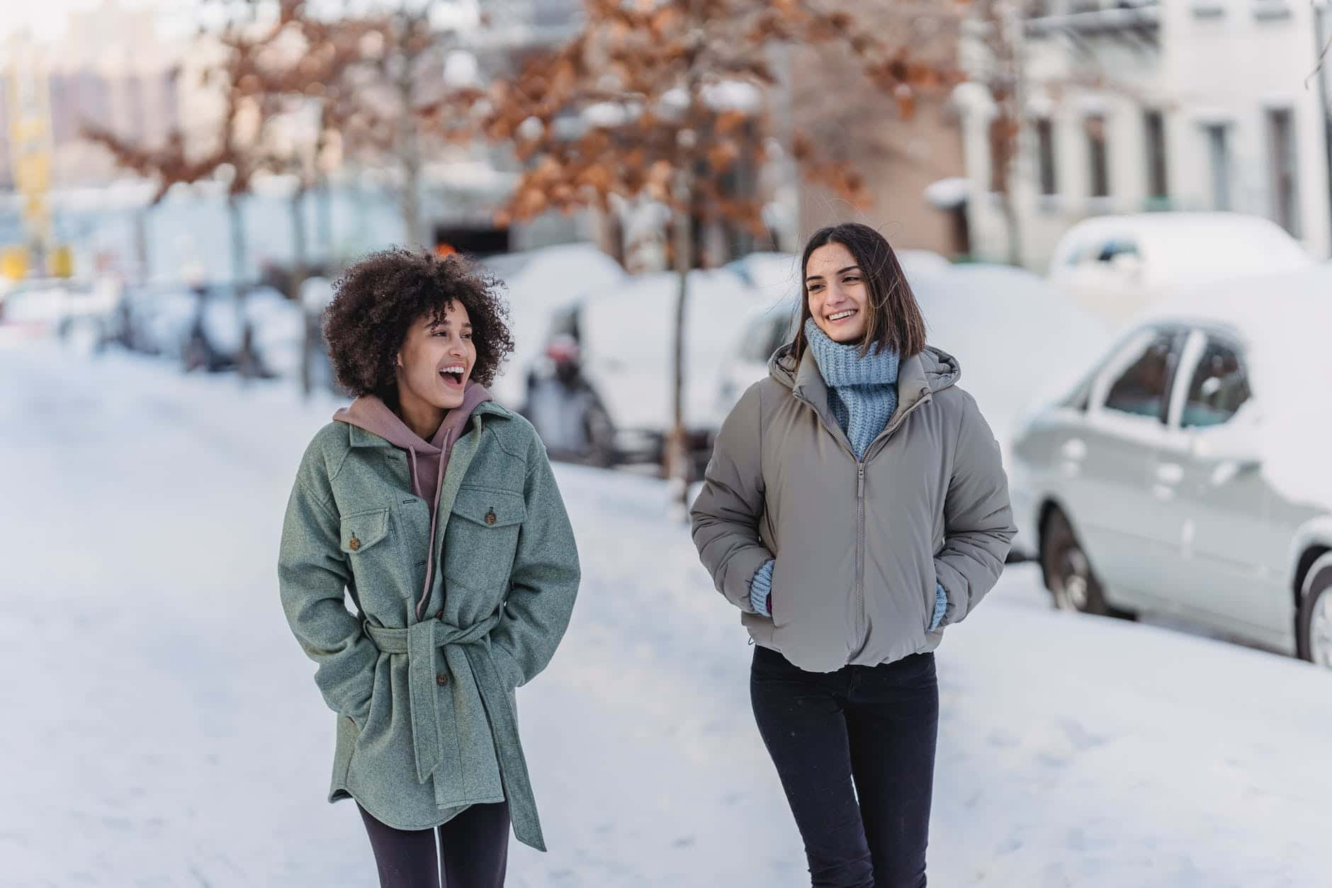 hiver copines neige avoir froid
