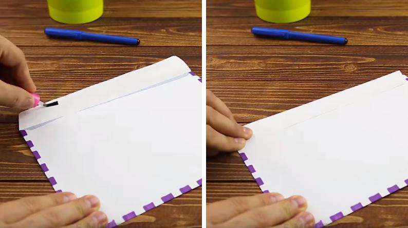coller une enveloppe