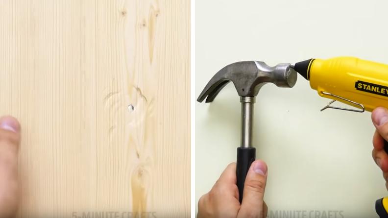 astuce trou marteau mur abimé
