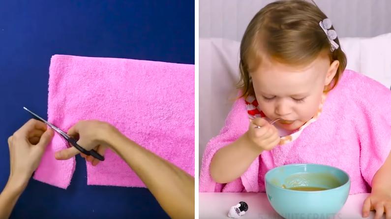astuce pour le repas des enfants serviette