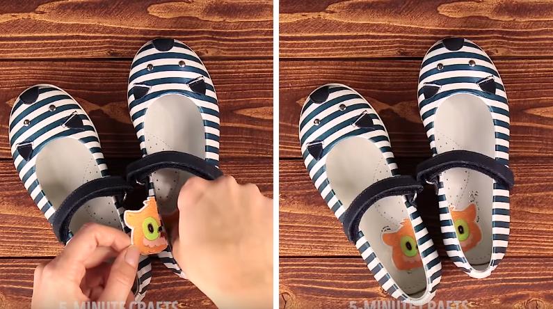 astuce chaussures enfant fille
