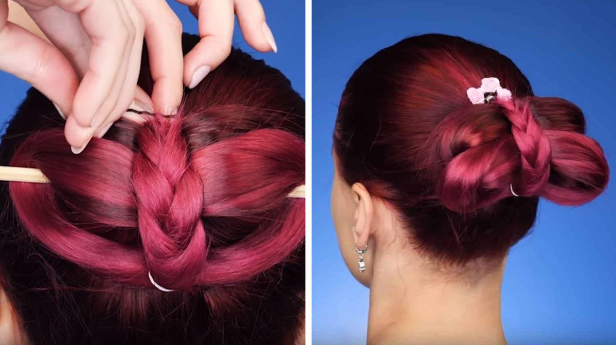 chignon astuces cheveux