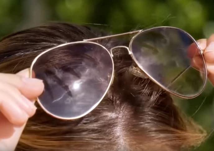 lunettes de soleil cheveux