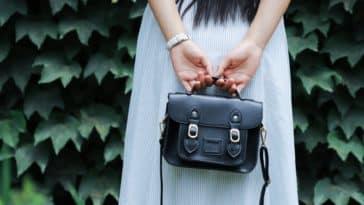 sac à main en cuir noir