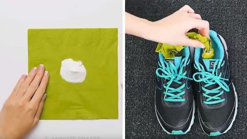 baskets anti odeurs bicarbonate de soude astuces course à pied