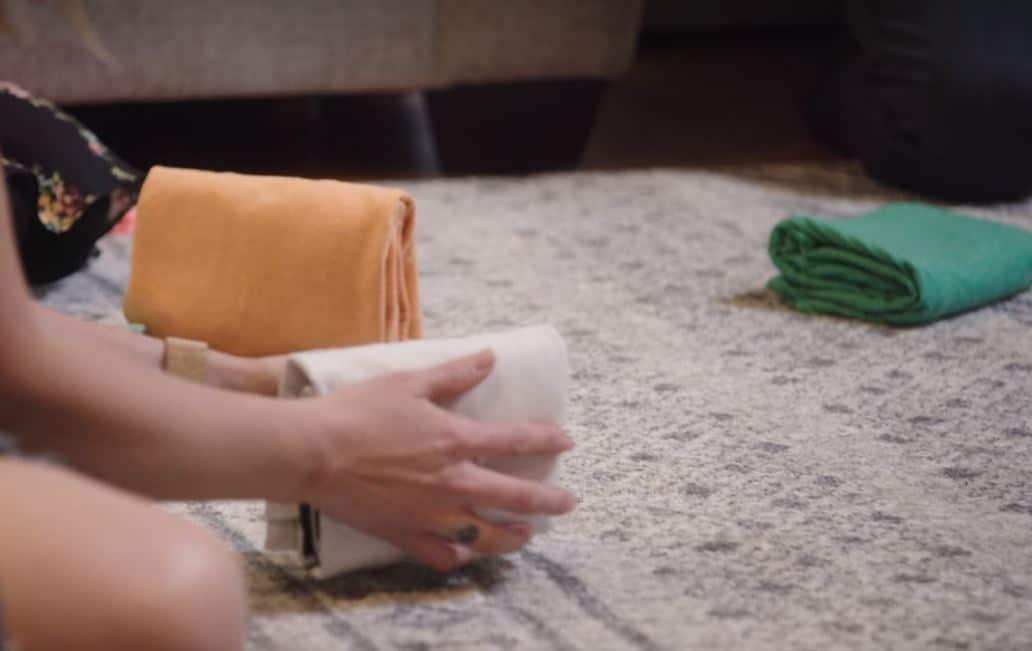 vêtements roulés technique Marie Kondo