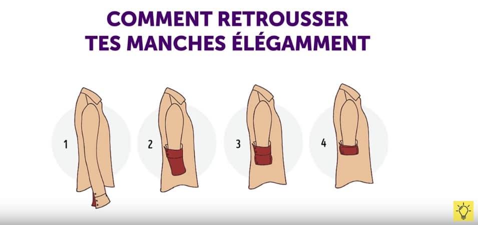 comment retrousser ses manches de chemise