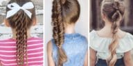 queue de cheval pour petites filles inspiration