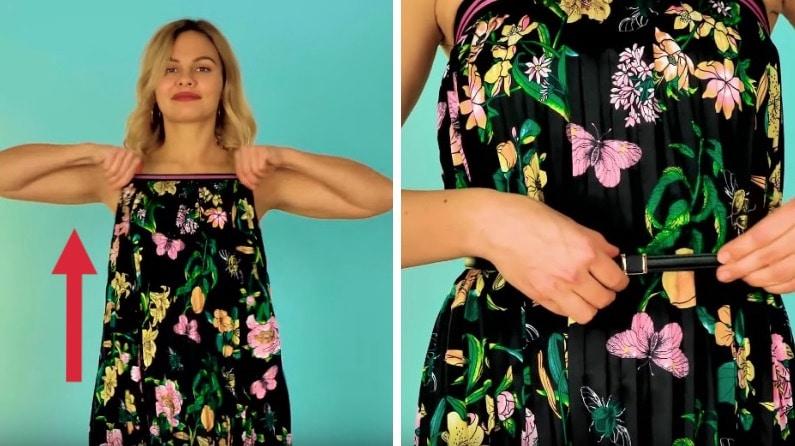 ceinturer une robe remédier gênes du quotidien
