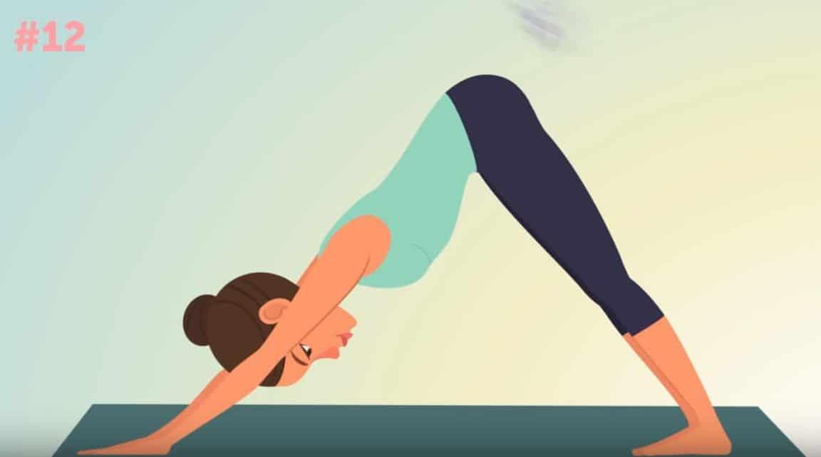 posture yoga chien tête en bas
