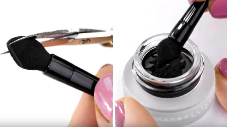 astuces eye liner pinceau pot