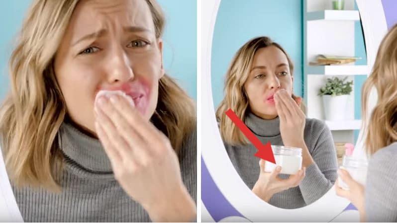 astuces démaquillant se démaquiller rouge à lèvres