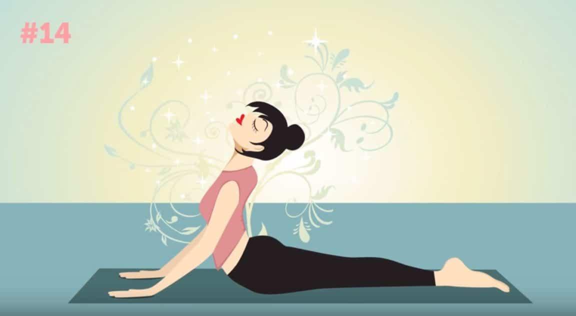 postures yoga positions ventre plat cobra chien tete en haut