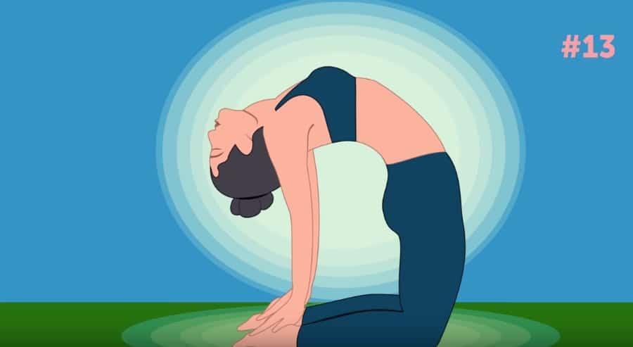 posture de yoga spéciale ventre plat