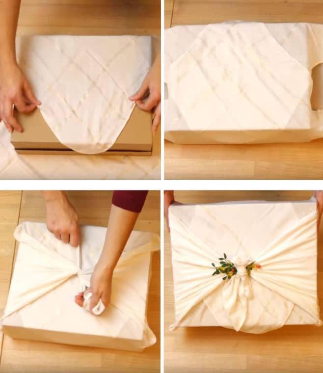 furoshiki emballage cadeau écologique et réutilisable
