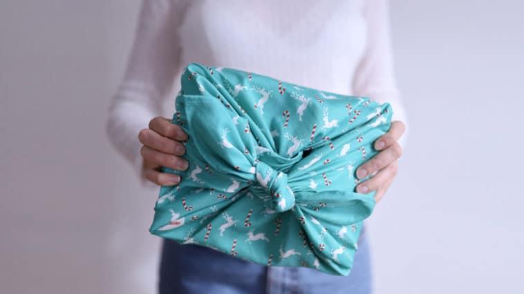 papier cadeau écologique en tissu