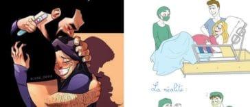 dessins grossesse démarches enceinte étapes