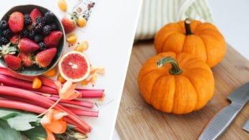 fruits et légumes minceur aliments favoriser régime petit déjeuner