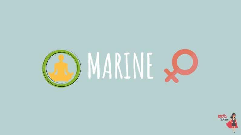 marine prénom personnalité