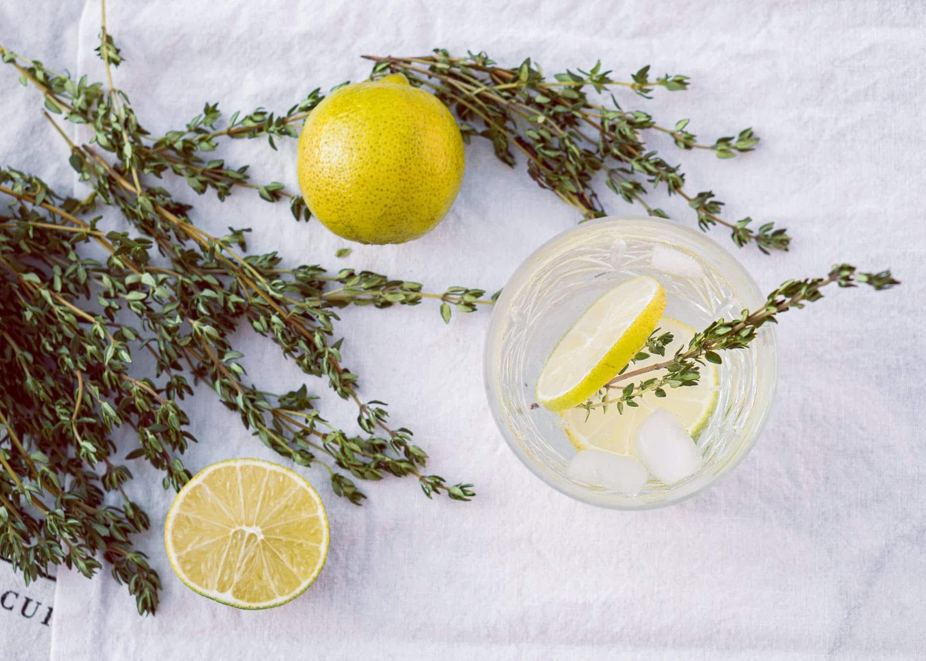 thym citron verre eau régime
