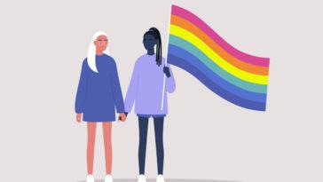 loi femmes gay lesbiennes homosexuelles drapeau arc-en-ciel LGBT couples homosexuels