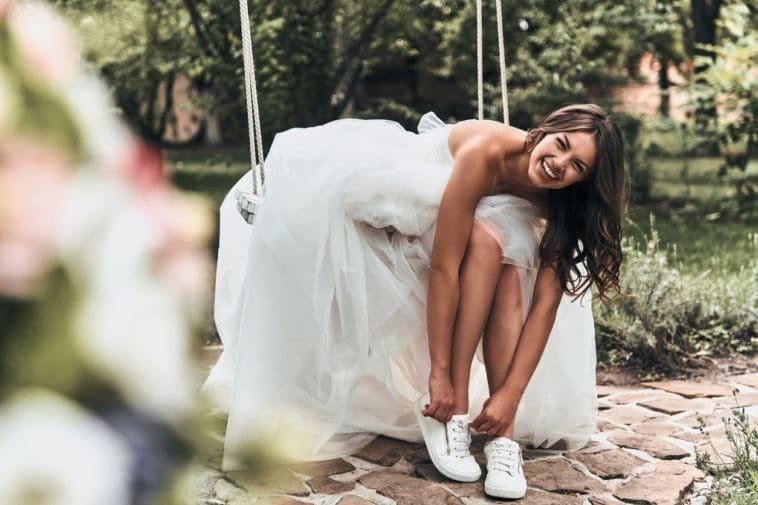 robe de mariée moderne chaussures mariage