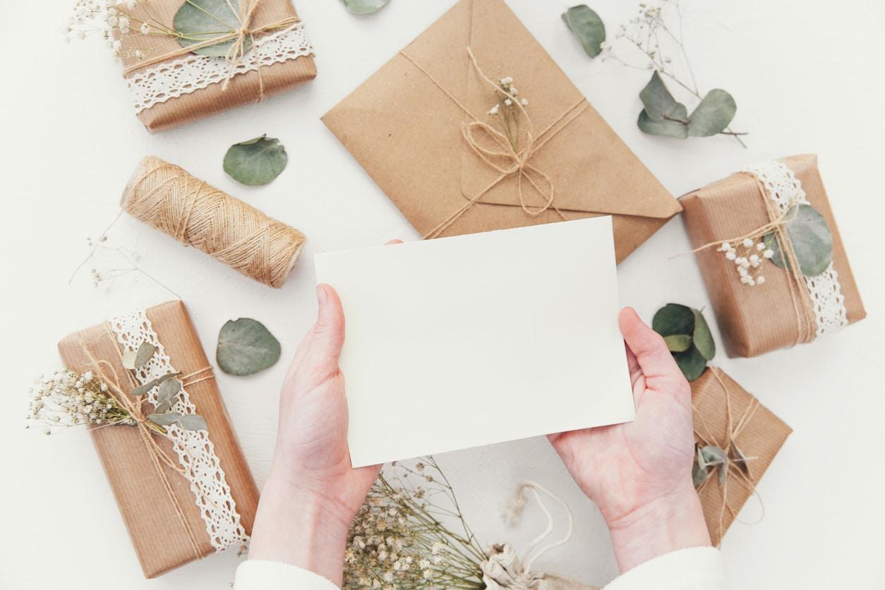 lettre écrire paquets cadeaux