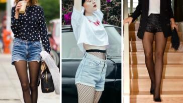 looks style collants et short mode