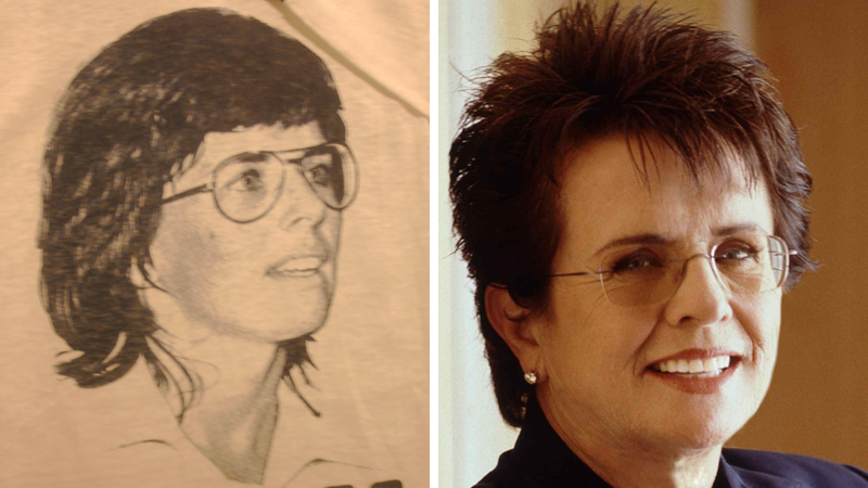 Billie Jean King joueuse tennis personnalités LGBT gay femmes homosexuelles bisexuelles