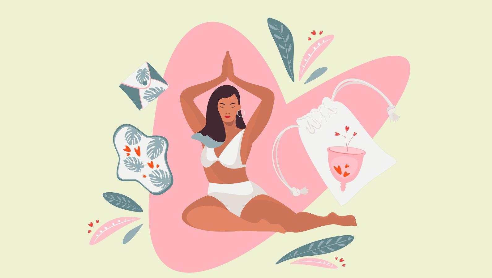 vivre mieux ses règles femme yoga dessin cycle menstruel