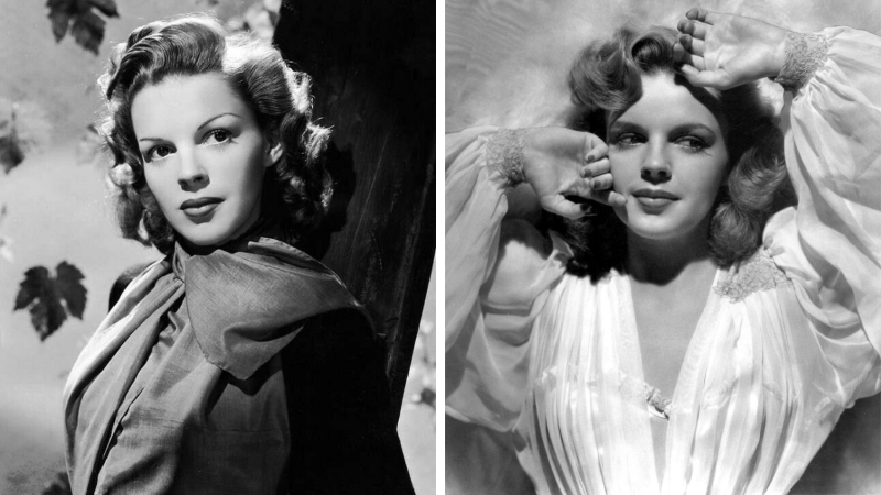 Judy Garland photo noir et blanc star cinéma