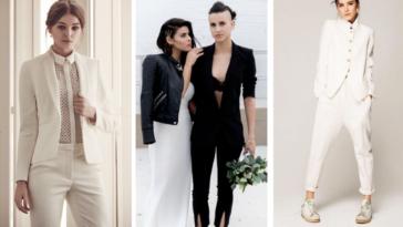 costumes de mariage gay LGBT mariées sans robe