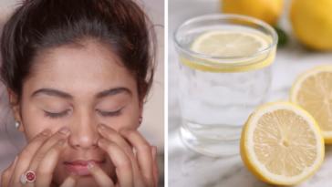 astuces prendre soin de soin massage visage jus de citron