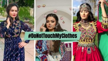 Donttouchmyclothes hashtag femmes afghanes mode robes talibans