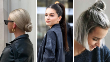 coiffures cheveux lisses raides inspirations idées